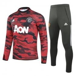 (Красный/Черный) Теплые тренировочные костюмы Манчестер юнайтед