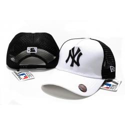 Бейсболки сеткой (Белый/Черный) mlb ny yankees