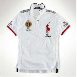 Мужские футболки поло (Белый/Красный) Англии Поло ральф лурен 2011 2012