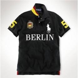 Мужские футболки поло (Черный/Желтый) Берлин Поло ральф лурен 2011 2012