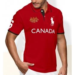 Футболки Поло одежда (Красный/Белый) поло ральф лорен CANADA 2011 2012