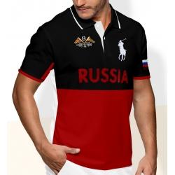 Мужские футболки поло (Черная/Красная) поло ральф лурен PRL RUSSIA 2011 2012