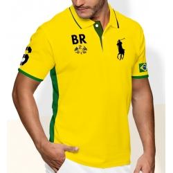 Футболка поло поло ральф лорен купить PRL m2 (Желтая/Зеленый) BR BRAZIL 2011 2012