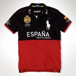 Мужские футболки поло (Черный/Красный) ESPANA Поло ральф лурен 2011 2012