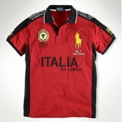 Мужские футболки поло (Красный/Черный) Italia Поло ральф лурен 2011 2012