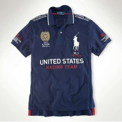 Мужские футболки поло (Темно синий/Белый) UNAITED STATES Поло ральф лурен 2011 2012