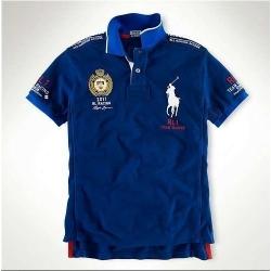 Мужские футболки поло (Синий/Белый) France Поло ральф лурен 2011 2012