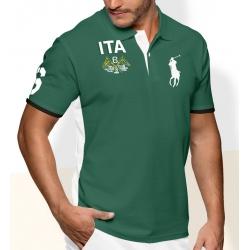Мужские футболки поло(Зеленая/Белая) Поло ральф лурен ITA ИТАЛИЯ 2011 2012