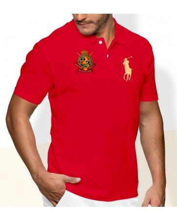 Футболка поло мужская красная борис