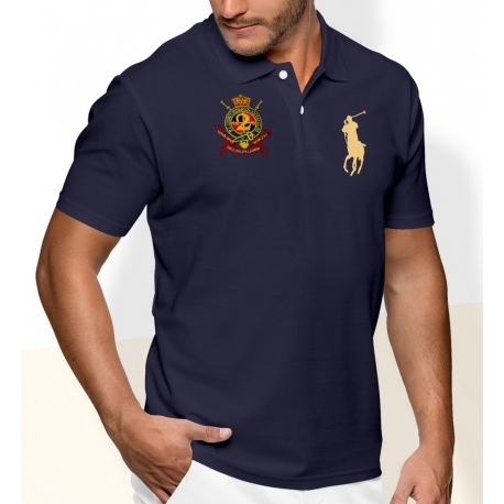 Мужскую футболку Поло ральф лурен (Темно синяя) 2 classic big