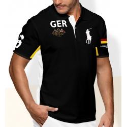 Футболка поло мужская черная борис