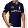 Футболка поло мужская (Темно синяя/Желтая) Австралия поло ральф лаурен