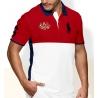 Футболка поло мужская (Красный/Белый) Австралия поло ральф лаурен