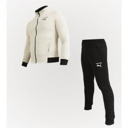 Спортивный костюм пума бежевый/черный