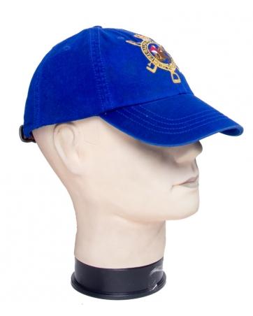 Бейсболка Polo ralph Lauren синяя кожанный ремешок