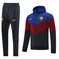 Барселоны Спортивные костюм капюшоном 2021 2022(Бордовый)