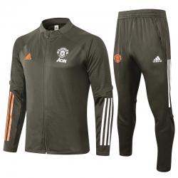 Cпортивные костюмы манчестер юнайтед 2021 2022 (Серый/Оранжевый)