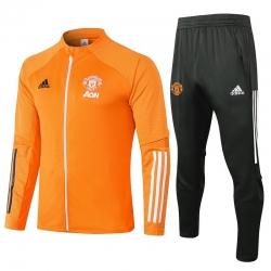 (Оранжевый/Серый) Cпортивные костюмы манчестер юнайтед 2021 2022
