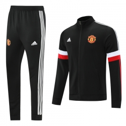 Cпортивные футбольные костюмы манчестер юнайтед 2021 2022 (Черный/Красный)