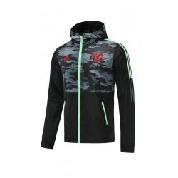 Куртка ветровки манчестер юнайтед 2020 2021 (Черный/Красный)