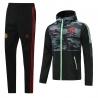 Ветрозащитный костюм Манчестер Юнайтед (Черный/Серый) 2021 2020