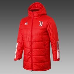 Утепленные куртки Ювентус красная 2021