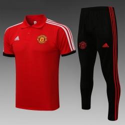 Футбольный костюм поло манчестер юнайтед 2021 (красный