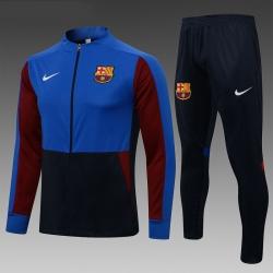Спортивные костюм барселоны 2020 2021 (Темно синий/Берюзовый)